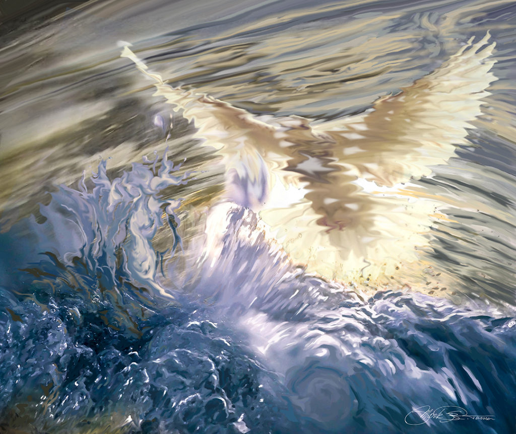 """Surfacing Baptism"" by Mark R. Turner, digital painting"