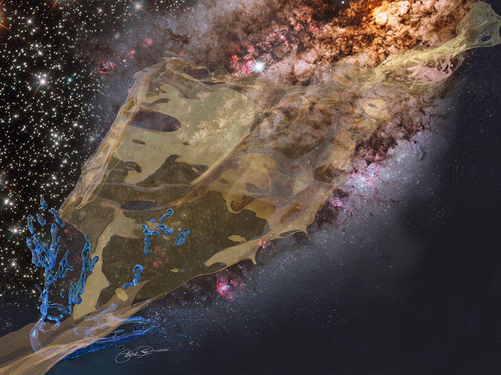 """The Sizzling Edge of Creation"" digital art by Mark R. Turner Feb 2020"